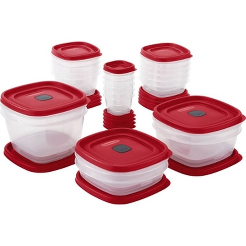 SET 40 PIEZAS HERMETICOS EASY FIND LIDS RUBBERMAID