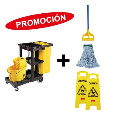 KIT CARRO LIMPIEZA/CUBETA WAVEBRAKE RUBBERMAID